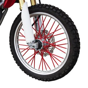 新品 スポークラップ 215mm 赤 40本セット ホイール1本分 レッド スポークスキン バイクパーツセンター|bike-parts-center