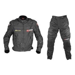DUHAN ジャケット&パンツセット ブラック L D020+DK02|bike-parts-center