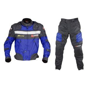 DUHAN ジャケット&パンツセット ブルー L D020+DK02|bike-parts-center
