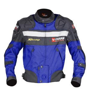 DUHAN 3シーズンプロテクター付きジャケット ブルー L bike-parts-center