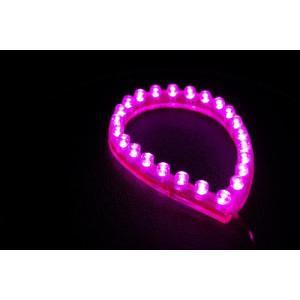 LEDチューブ ピンク 24cm 5本セット 新品 バイクパーツセンター|bike-parts-center