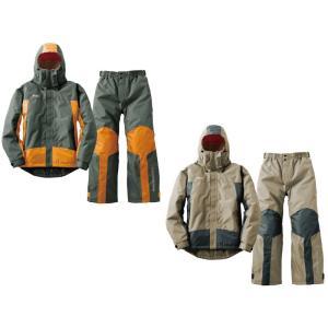 蒸れない防水防寒ウエア 上下セット 中綿入り ライダースジャケット ナイロンジャケット レインウエア 合羽 プロップ ロゴス ウインドブレーカー|bike-world-walk