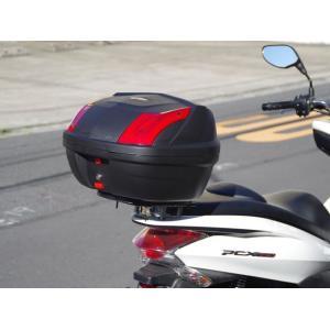 pcx 新型 pcx125 pcx150用リアキャリア リアボックスセット48L|bike-world-walk|02