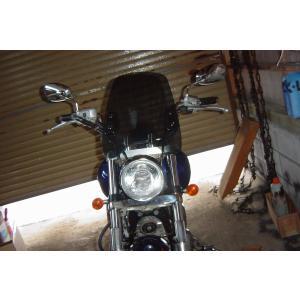 ドラッグスター400 WS-02W 汎用 スクリーン シールド 風防 バイク用 クリア スモーク|bike-world-walk|03