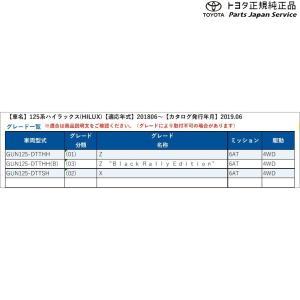 125系ハイラックス ゲートプロテクター(サイド) PW3B9-0K000 トヨタ GUN125 125HILUX TOYOTA bikebuhin 02