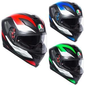 AGV K5 S Marble Helmet フルフェイスヘルメット サンバイザー オンロード バイ...