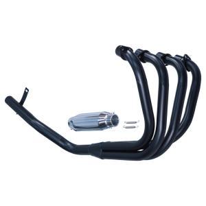 GS400 マフラー モナカ管 ブラック バーテックス GS400 マフラー