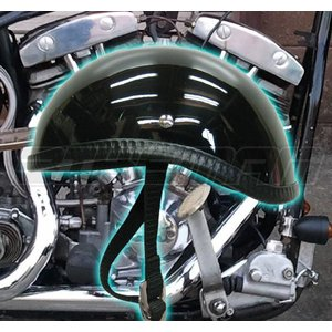 ダックテール ヘルメット 装飾用 ヘルメット 艶在りブラック ハーレー ナックル パン ショベル ダックテール ヘルメット 装飾用 ヘルメット 送料無料!! bikeman