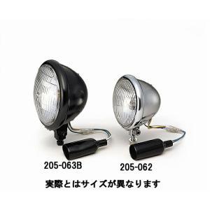 キジマ KIJIMA 205-063B ヘッドライト ブラックベーツタイプ 4.5インチ 12V35/35W|bikeman