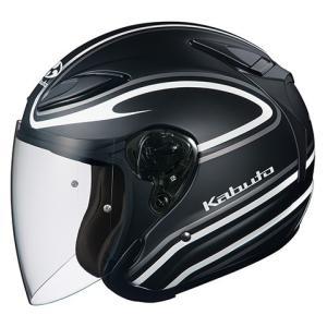 OGK KABUTO AVAND2 アヴァンド  STAID ステイド フラットブラックホワイト ヘルメット ジェット サイズ:XLサイズ|bikeman