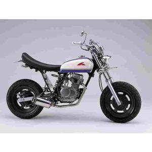 ファットボブマフラー エイプ50 (-07 AC16-1599999迄) ポリッシュ ハリケーン HE1032S bikeroad