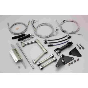 ロングホイールベース kit マジェスティ250 (07-10 4D9) ステンレスメッシュケーブル ハリケーン HF1030M bikeroad