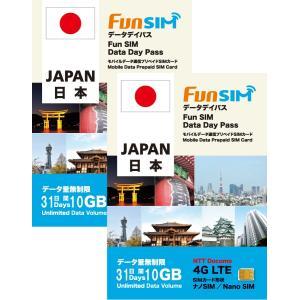 【2枚セット】日本国内 31日間 10GB 4G/3G データ通信専用 FunSIM プリペイドSIMカード|billion-connect
