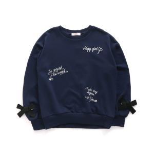ALGY アルジー 子供服 20秋冬 とび刺繍りぼん付きトレーナー|billy-k