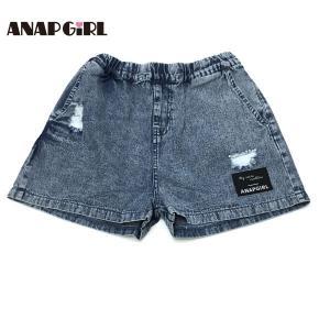 ANAP GiRL アナップガール 子供服 21春夏 クラッシュデニムショートパンツ(ib)|billy-k