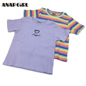 ANAP GiRL アナップガール 子供服 21春夏 2パターンハートアキリブトップス(ib)|billy-k