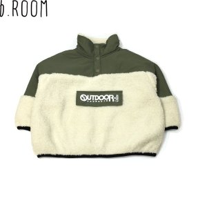 50%OFF セール 【返品・交換不可】 b-ROOM ビールーム 子供服 20秋冬 【OUTDOOR PRODUCTS】 異素材切り替えアノラックパーカー|billy-k
