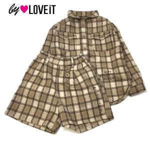 by LOVEiT バイラビット 子供服 20秋冬 シャツ+キュロットセットアップ|billy-k