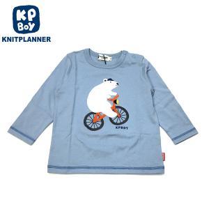 KP BOY ケーピーボーイ 20秋冬 くまさんモチーフTシャツ 80cm 90cm|billy-k