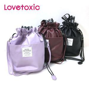 セール 【返品・交換不可】 Lovetoxic ラブトキシック 子供服  フェイクレザー巾着ショルダーバッグ|billy-k