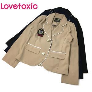 Lovetoxic ラブトキシック 子供服 ワッペンブローチつきテーラードジャケット|billy-k