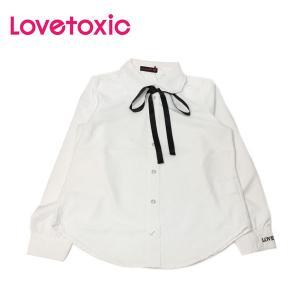 Lovetoxic ラブトキシック 子供服 リボンタイつきフリル衿シャツ|billy-k