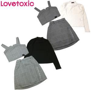 セール 【返品・交換不可】 Lovetoxic ラブトキシック 子供服 チェックビスチェ×スカート×レースTシャツ3点セット|billy-k