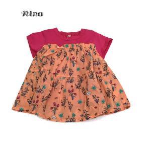 nino ニノ 子供服 21春夏 Tシャツ ボタニカルフラワーPT 90cm〜120cm|billy-k