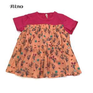 nino ニノ 子供服 21春夏 Tシャツ ボタニカルフラワーPT 130cm 140cm|billy-k