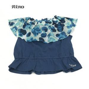 nino ニノ 子供服 21春夏 Tシャツ オフショルダースタンプフラワーPT 100cm〜120cm|billy-k