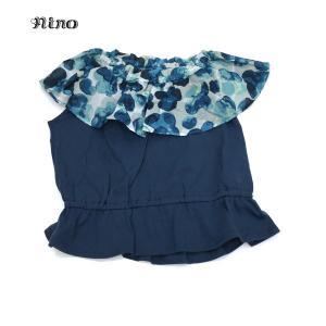 nino ニノ 子供服 21春夏 Tシャツ オフショルダースタンプフラワーPT 130cm〜150cm|billy-k