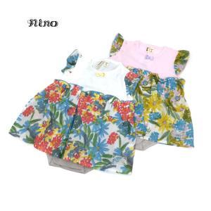 nino ニノ 子供服 21春夏 ロンパース ペイントフラワーPT 70cm 80cm|billy-k