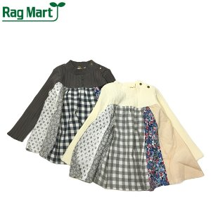 RAG MART ラグマート 子供服 21春 パッチワークチュニックTシャツ|billy-k