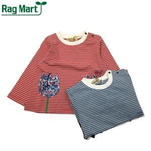 RAG MART ラグマート 子供服 21春 ミニ裏毛ボーダートレーナー|billy-k