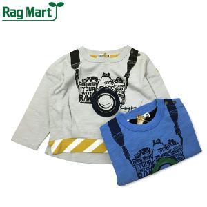 RAG MART ラグマート 子供服 21春 カメラプリントロングスリーブTシャツ|billy-k