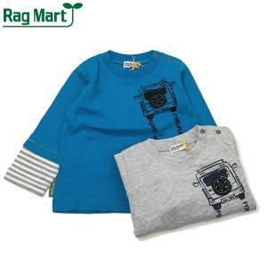 RAG MART ラグマート 子供服 21春 クルマプリントレイヤード風Tシャツ|billy-k