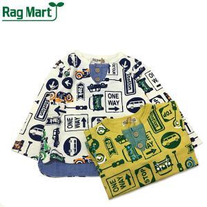 RAG MART ラグマート 子供服 21春 総柄プリントロングスリーブTシャツ|billy-k