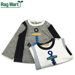 RAG MART ラグマート 子供服 21春 アンカーモチーフロングスリーブTシャツ|billy-k