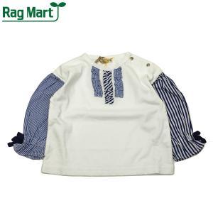 RAG MART ラグマート 子供服 21春 ストライプ切り替えロングスリーブTシャツ|billy-k