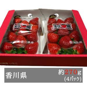 美味いちご園 さぬきひめ 大粒約270g×4パック 香川県産
