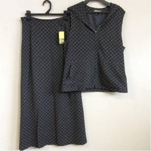 CHRISMONTEZ chris montez ベスト&スカート セット 薄黒×白 サイズ表示なし bimota