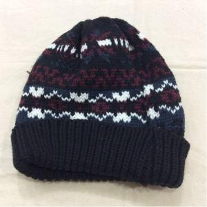 WORLD ワールド 黒×エンジ、白ニット帽子 サイズ表記なし bimota