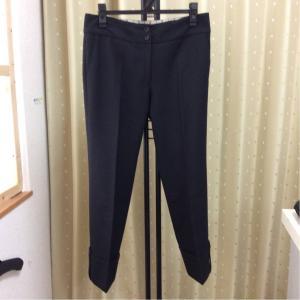 PLST PLS+T パンツ 裾折り返し 黒色 サイズ2 bimota