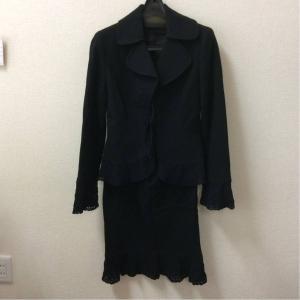 MATELIA マテリア 黒ウールスカートスーツ サイズ38 bimota