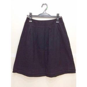INDIVI インディヴィ 黒ラメ入りスカート すそシフォン切り替え サイズ40|bimota