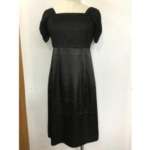 23区 黒サテンとレースのドレス|bimota