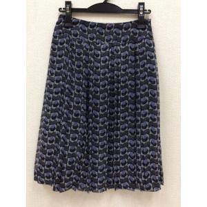 23区 黒や紫のプリント柄 シフォンスカート|bimota