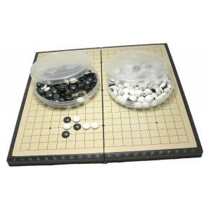 ・囲碁 囲碁盤 セット ポータブル 折りたたみ式 (中28.5×28.5cm)。   ・碁石の片面に...