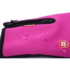 スマホ対応 手袋 メンズ  レディース 防寒 防風 グローブ スマートフォン タッチパネル 自転車|binetto|05