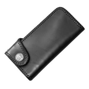 ニューブラック レザー ロングウォレット 革財布
